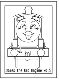 Thomas The Train Easy Coloring Pages