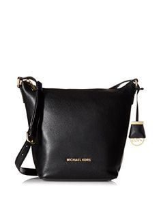 bbc182810c Michael Kors Bedford MD Messenger Leather - Black
