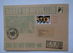 James,Jimmie Cauty Beatles Immolation 1st Day Cover un opened. Abbey Rd, stamped
