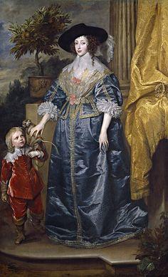 Дейк, Антонис ван - Королева Генриетта Мария с сэром Джеффри Хадсоном. Национальная галерея искусств (Вашингтон)