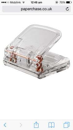 Acrylic rose gold stapler