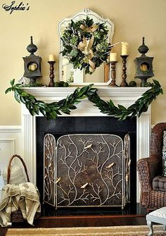 Magnolia Leaves are beautiful for home and seasonal decor. From everyday, to Thanksgiving & Christmas, here are 22 ways to decorate with Magnolia Leaves. Christmas Mantels, Christmas Holidays, Christmas Crafts, Christmas Decorations, Christmas Fireplace, Christmas Ideas, Green Christmas, Christmas Inspiration, Holiday Ideas