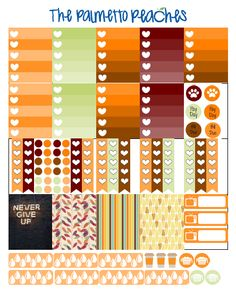 Free ECLP October/ Fall themed printable - Print your own planner stickers - The Palmetto Peaches - www.palmsinatl.com