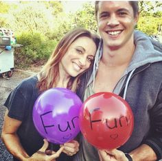 Georgie Parker and Johnny Ruffo