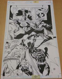 Detective Comics 710, interior page by Graham Nolan and Bill Sienkiewicz Comic Art