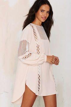 Francois Crochet Shift Dress