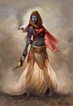 Djinn who has escaped her lamp, #urbanfantasy character inspiration