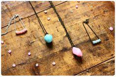 diy fimo pierre quartz bijoux collier bracelet  instructions in French, but good photos love it! must try! #ecrafty