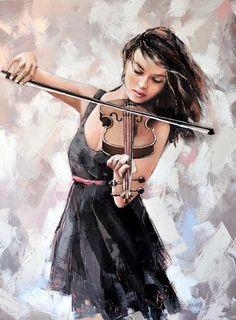 Alexander Gunin (b.1969) — The Violin, 2014 (662x900)
