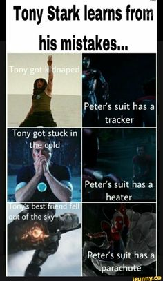 Tony stark, Iron Man, Tony stark and Spider Man, Tony stark genius, Tony stark i. - Marvel Universe Tony stark Iron Man Tony stark and Spider Man Tony stark genius Tony stark i Marvel Jokes, Films Marvel, Avengers Humor, Funny Marvel Memes, Dc Memes, Marvel Heroes, Marvel Avengers, Marvel Movies To Come, Loki Meme