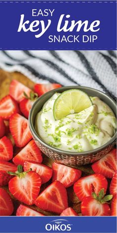 Looking for a recipe that will make summer entertaining that much sweeter? Check out this Easy Key Lime Snack Dip! Using Dannon® Oikos® Single Serve Key Lime Greek Yogurt and whipped cream cheese, this fresh dessert idea couldn't be easier. And by picking up your favorite from the variety of flavors of Dannon® Yogurt at your local Walmart, you'll have endless fruity dish inspiration!
