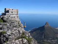 The Cable Way's Top Station on Table Mountain above Cape Town, South Africa. It had been cloudy and overcast in the preceding days but this day the last in South Africa was perfect for the ascent to the top of the mountain. South Africa Tours, Cape Town South Africa, Cape Town Tourism, Table Mountain Cape Town, North West Province, Island Tour, Exotic Places, Africa Travel, National Parks