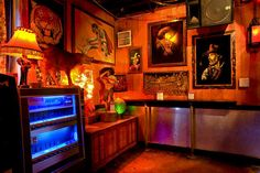 """Dive Bars of Dallas, this is kinda what I picture the setting of the monologue to be. """"Lou's Bar."""""""