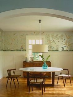 """Foto: Reprodução / <a href=""""http://www.houzz.com/photos/19551/Lake-Michigan-House-contemporary-dining-room-other-metro"""" target=""""_blank"""">Dufner Heighes Inc</a>"""