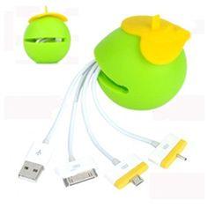 Manzana multiadaptador con central usb compacta para Iphone, micro usb, cable de datos