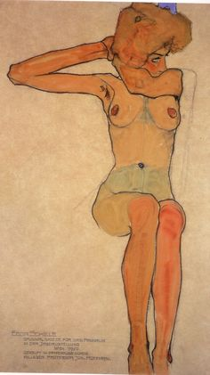 Egon Schiele is a influence on the artist Blair Lamar and they was she draws her figure