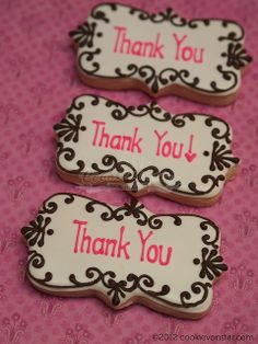 Simple Thank you cookies  - ahhm, for some perhaps!