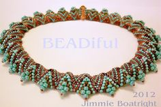 Surfing the Waves - Jimmie's new design -    Classes available at www.beadiful/gifts.com