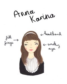 Style Icon Anna Karina A5 Archival Art Print by emmablock on Etsy