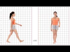 Animation Reference - Female Standard Walk - Grid Overlay - YouTube