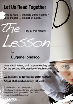 The Lesson by Eugene Ionesco