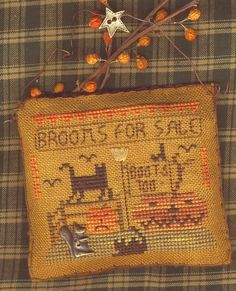 Brooms For Sale Cross Stitch Pattern by HomespunElegance on Etsy, $7.00 ( Sept. 2010)