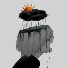 New Sad Art Drawings Ideas Dark Art Illustrations, Illustration Art, Anime Kunst, Anime Art, Sun Projects, Vent Art, Arte Obscura, Arte Horror, Sad Anime