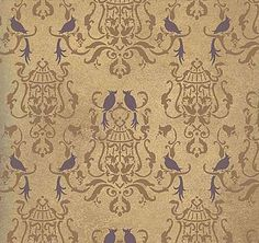 Cutting Edge Stencils - Birds Of Paradise Damask  $46.95 For the dinning room.