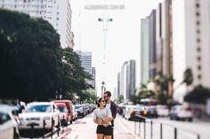 Sessão pré-casamento | Mariana e Leonardo | Tomando um café por aí em São Paulo. Avenida Paulista