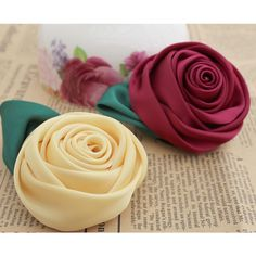 Aliexpress.com : Buy 50pcs/lot DIY hair accessory clothes corsage handmade rose flower head silk satin 12 colors 6cm dia wholesale free shipping  from Reliable plastic flower suppliers on Lore 's Decoration Flowers Store. $62.99