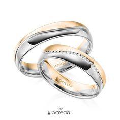 61aabc7283f2 Alianzas de boda con diamantes de dos oros diferentes. Opciones en oro