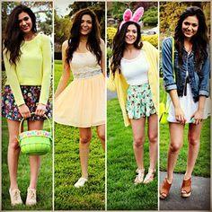 .@Bethany Shoda Mota (Bethany Mota) 's Easter Outfits :-)