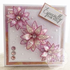 Want to create card toppers like these beautiful flowers? Then you'll need the Wild Flowers collection available in both the Stamps by Chloe and Dies by Chloe Range. Click the link to discover the products, from just Handmade Birthday Cards, Greeting Cards Handmade, Chloes Creative Cards, Stamps By Chloe, Create And Craft Tv, Tattered Lace Cards, Mothers Day Cards, Flower Cards, Christmas Cards