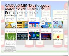 """""""11 Juegos y materiales para la práctica del CÁLCULO MENTAL en 2º de Primaria"""" Mental Calculation, Maths Area, Teaching Resources, Activities"""