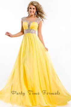 Yellow prom dress <3