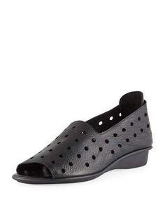 fec44f249177 Sesto Meucci Edwina Perforated Leather Slip-On Flats