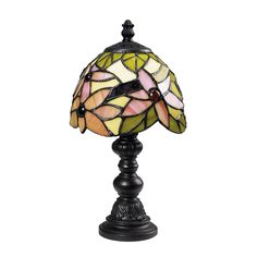 Dimond Lighting  table lamp perfect for adding a touch of feminine to a space. Would look great in a grouping of small decorative tiffany lamps