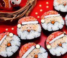日本人のごはん/お弁当 Japanese meals/Bento サンタ寿司 Santa sushi roll 日本人が作るとこうなるんですよ…