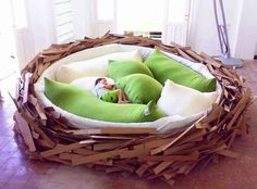 The bird's nest bed, where naps will hatch all day long. | 30 Impossibly Cozy Places You Could Die Happy In