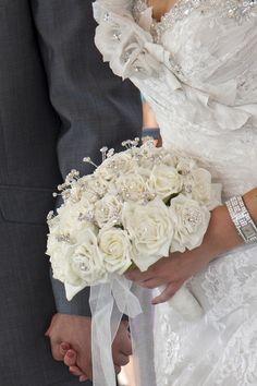 ribbon & silk flower bouquet