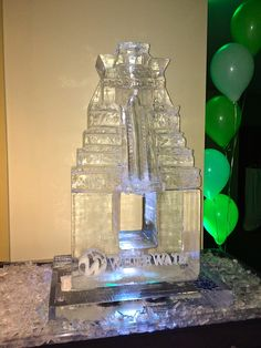 A water slide ice luge for a corporate event. #iceluges