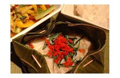Foodista | Recipes, Cooking Tips, and Food News | Thai Curry Fish In Banana Leaf