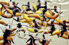 Gilles Barbier « Banana riders / Montés sur des bananes », 2009 (détail). Source : Artpress, juin 2010
