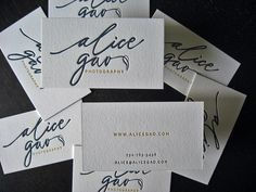 Alica Gao Business Cards - Front / Back by dolcepress, via Flickr