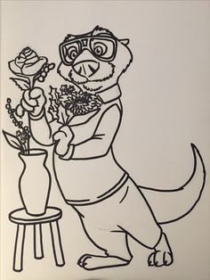 Emmett Otterton comes home and makes a bouquet in honor of his return...