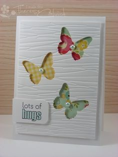 Butterfly Punch Card