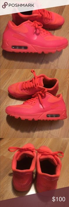 Nike air max 90s💕 Hype neon pink and coral airmaxs up for trade 😘😍💋 Nike Shoes Sneakers