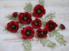 handmade poppy flowers