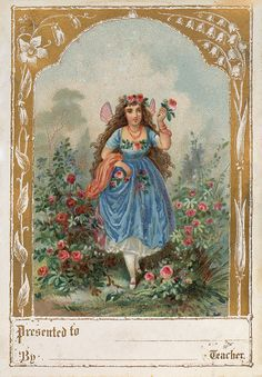 Delightful Vintage Garden Fairy Image! Free from The Graphics Fairy!