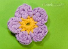 Blüte häkeln - Anleitung, Häkelanleitung